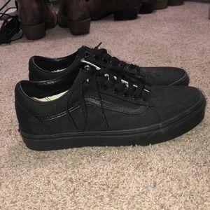 Vans all black shoes. Old skool